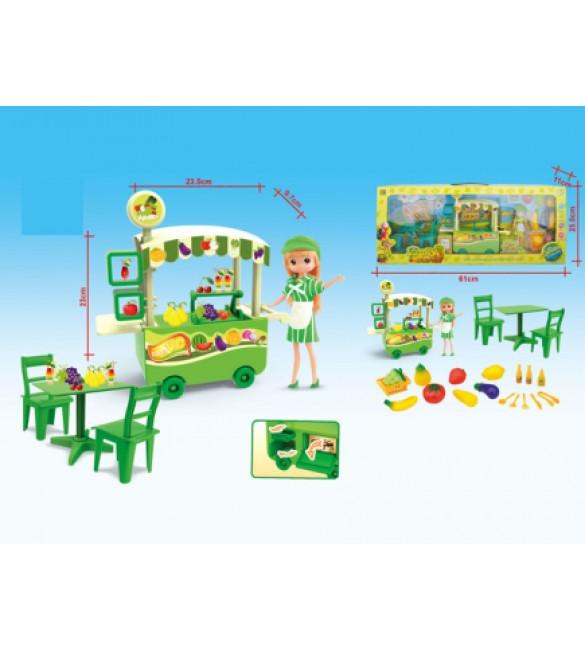 Komplekts Dārzeņu veikals ar lelli 7087510