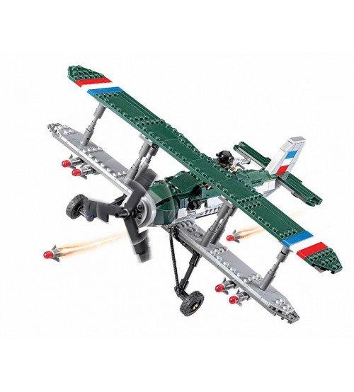 Konstruktors lidmašīna biplans 402 elementi 6+ KB82002