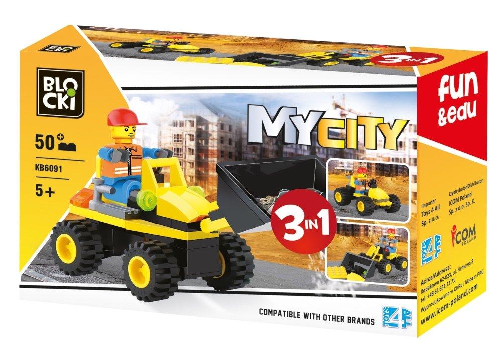 Konstruktors MyCity 3in1 50 el. KB6091