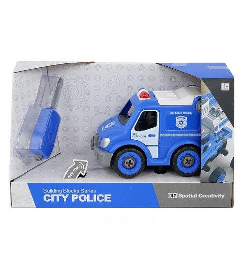 Konstruktors Policijas autobuss ar instrumentiem un skaņu 20 cm 507074