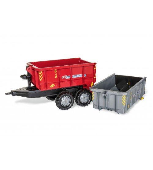 Konteinervedējs ar 2 konteinēriem traktoriem Rolly Toys rollyContainer Set 123933
