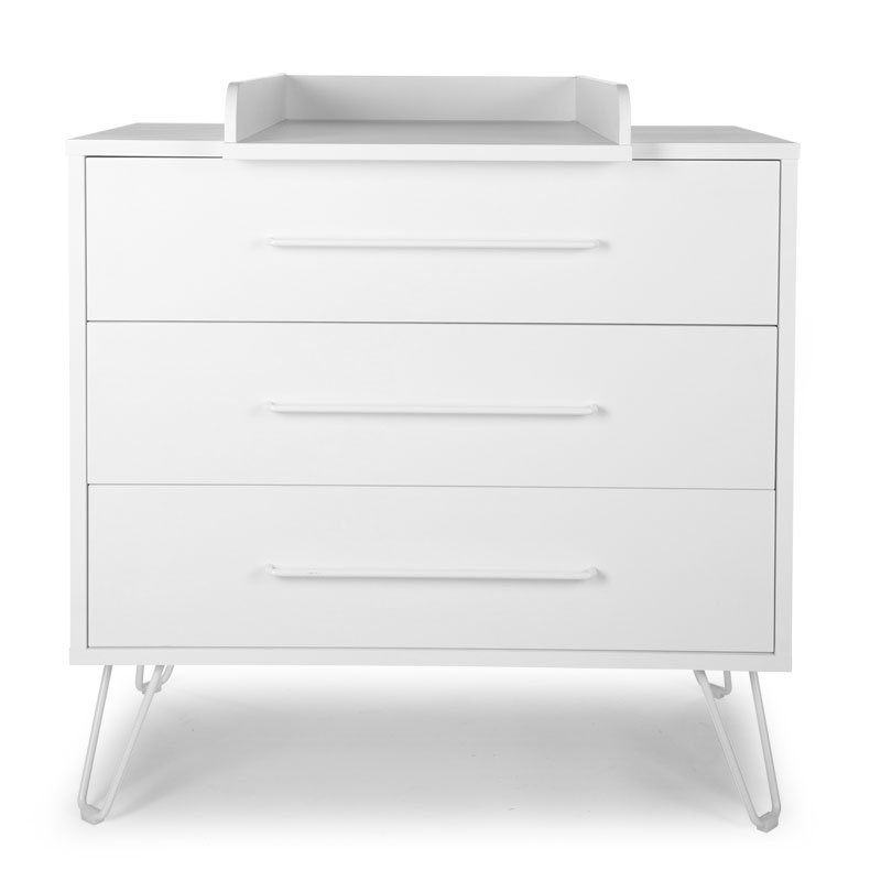Kumode CHILDHOME Ironwood White Chest 3 Drawers + Changing Unit