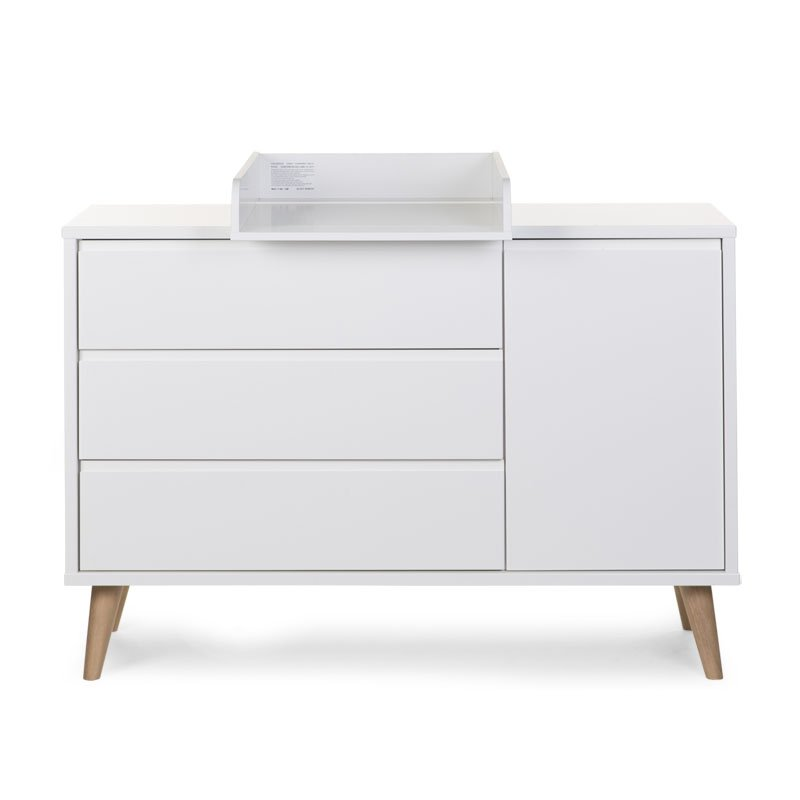Kumode CHILDHOME Retro Rio Chest Extra wide 3 + 1 Drawers + Changing Unit