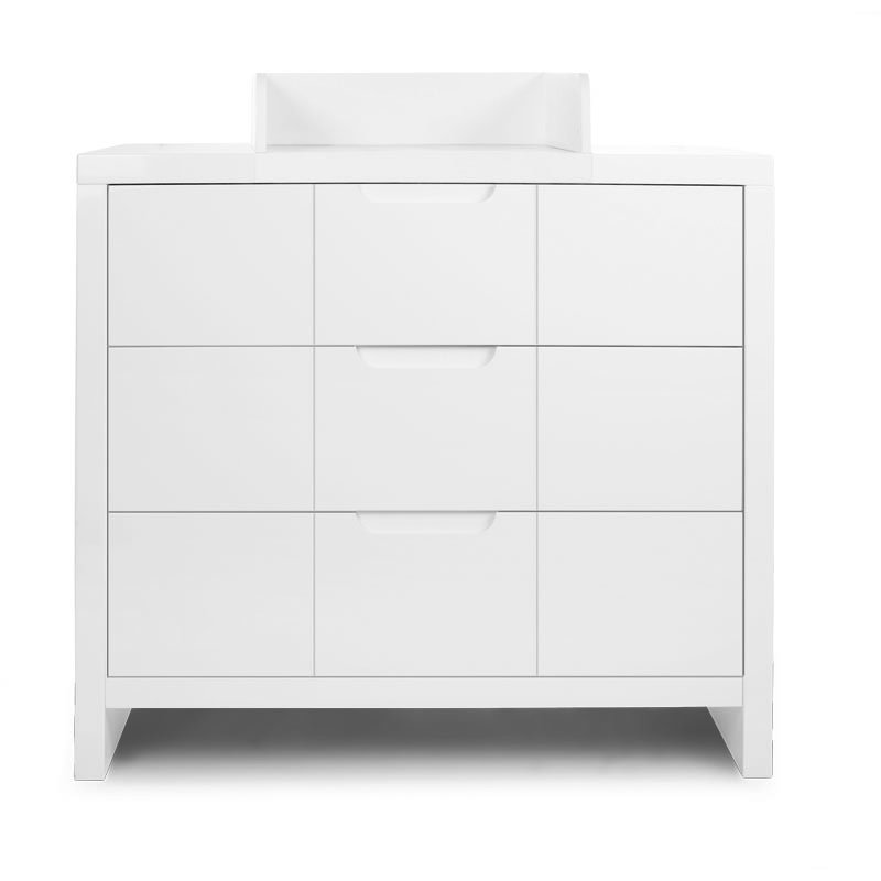 Kumode CHILDHOME Quadro White 3 Drawers + Changing Unit