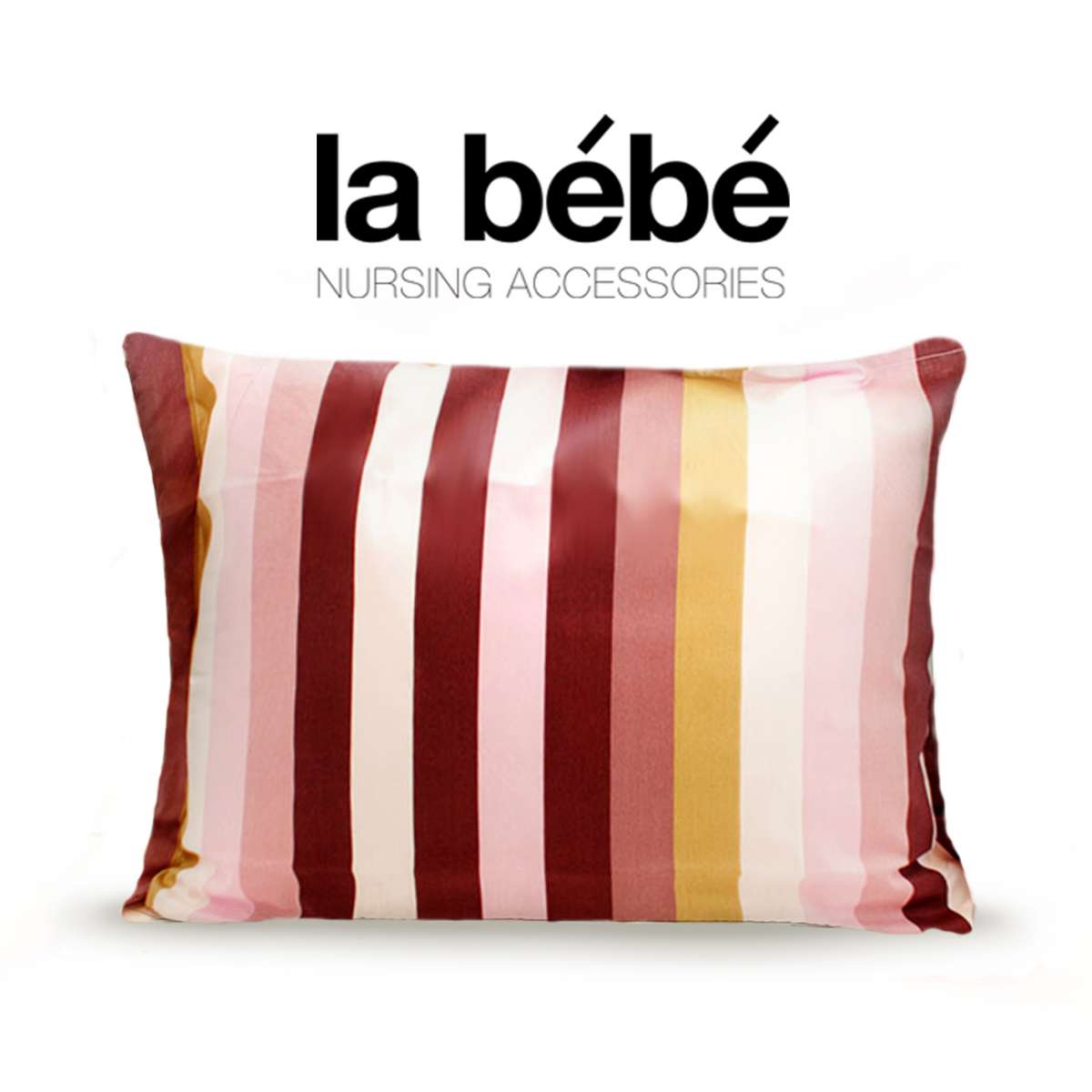 La Bebe Cotton Stripes Kokvilnas spilvendrāna ar kanti 60x40 cm