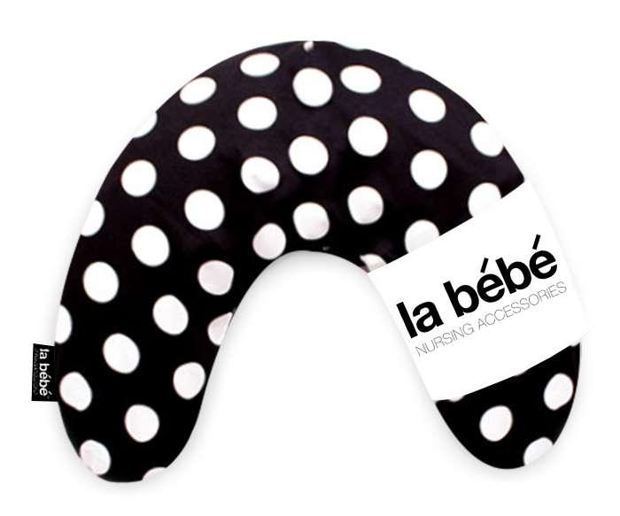 La Bebe Mimi Nursing Cotton Pillow Black-White dots Atbalsta pakaviņš spilventiņš 19x46cm ceļojumiem