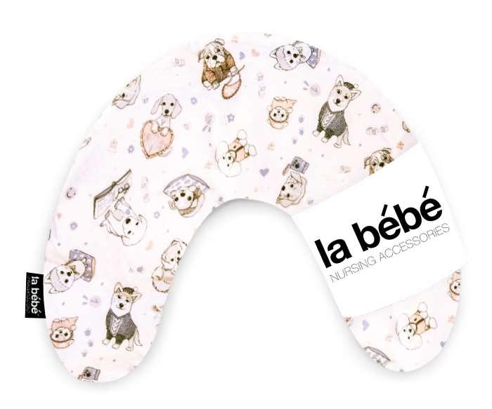 La Bebe Mimi Nursing Cotton Pillow Dogs Atbalsta pakaviņš spilventiņš 19x46cm ceļojumiem