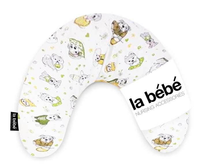 La Bebe Mimi Nursing Cotton Pillow Funny Dogs Griķu pakaviņš spilventiņš 19x46cm