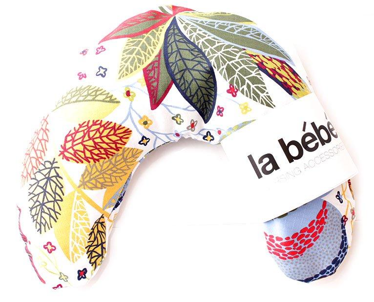 La Bebe Mimi Nursing Cotton Pillow Red Leaf Fall Atbalsta pakaviņš spilventiņš 19x46cm