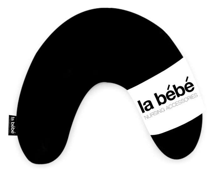 La Bebe Mimi Nursing Cotton Pillow Solid black Pakaviņš spilventiņš 19x46cm