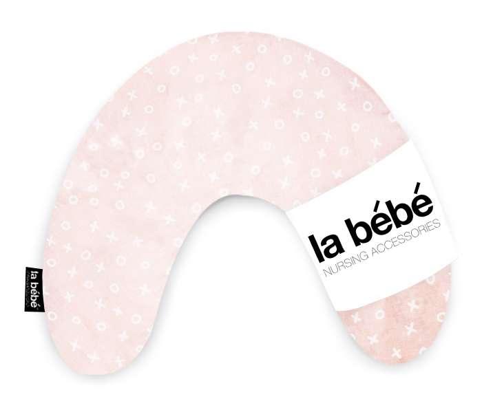 La Bebe Mimi Nursing Cotton Pillow TicTacToe Pink Griķu pakaviņš spilventiņš 19x46cm