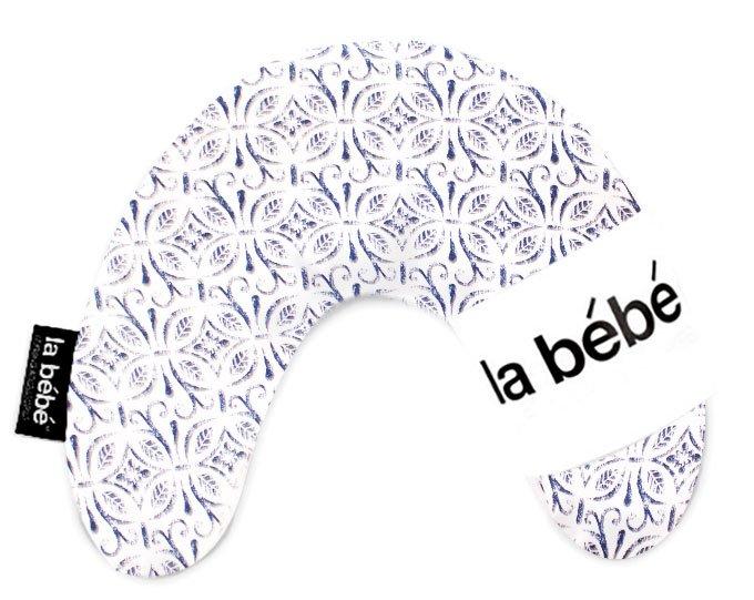 La Bebe Mimi Nursing Cotton Pillow Tracery White Dark Blue Pakaviņš spilventiņš 19x46cm
