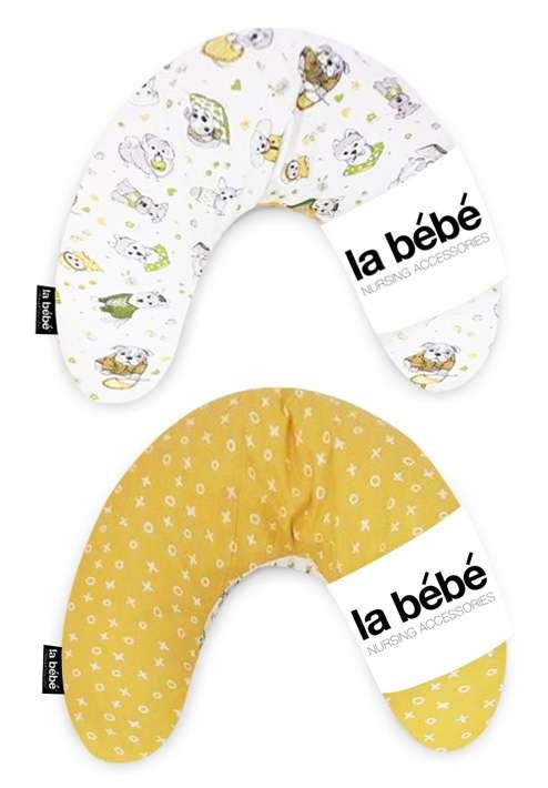 La Bebe Mimi Nursing Pillow Double Face Funny Dogs Griķu pakaviņš spilventiņš 19x46cm