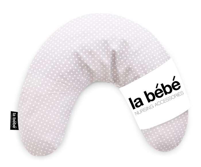 La Bebe Mimi Nursing Ripple Grey Satin Pillow Pakaviņš spilventiņš 19x46cm