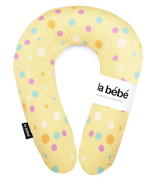 La Bebe Nursing Maternity Pillow Snug Yellow Dots Pakaviņš mazuļa barošanai, gulēšanai 20x70