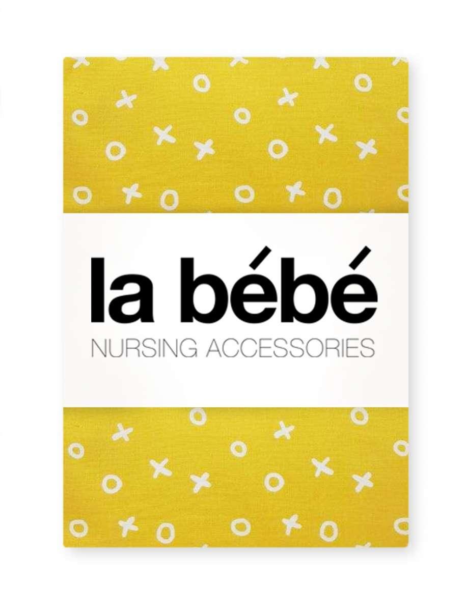 La Bebe Nursing TicTacToe Kokvilnas, Satīna Autiņu komplekts 75x75 cm