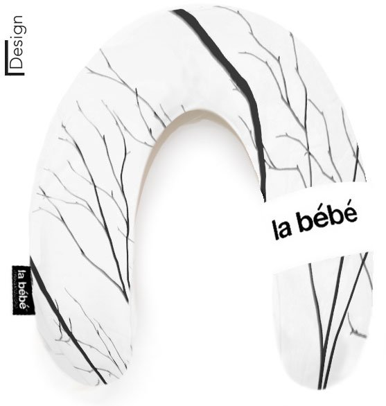 La Bebe Rich Cotton Nursing Maternity Pillow Black Branch pakaviņš mazuļa barošanai, gulēšanai
