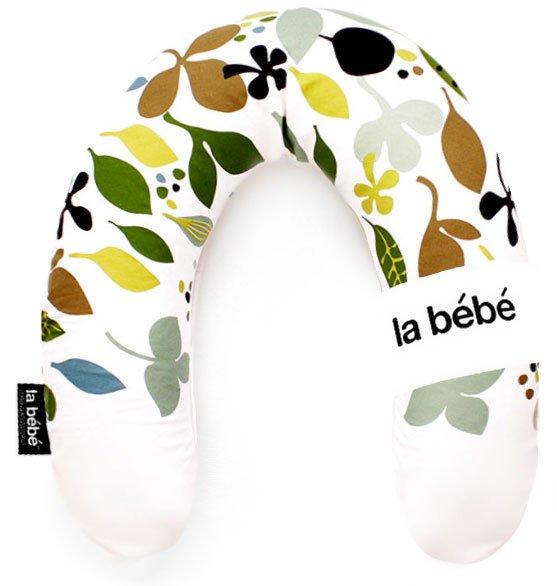 La Bebe Rich Cotton Nursing Maternity Pillow Clipart Leaf Pakaviņš pakavs mazuļa barošanai, gulēšanai 30x175 cm