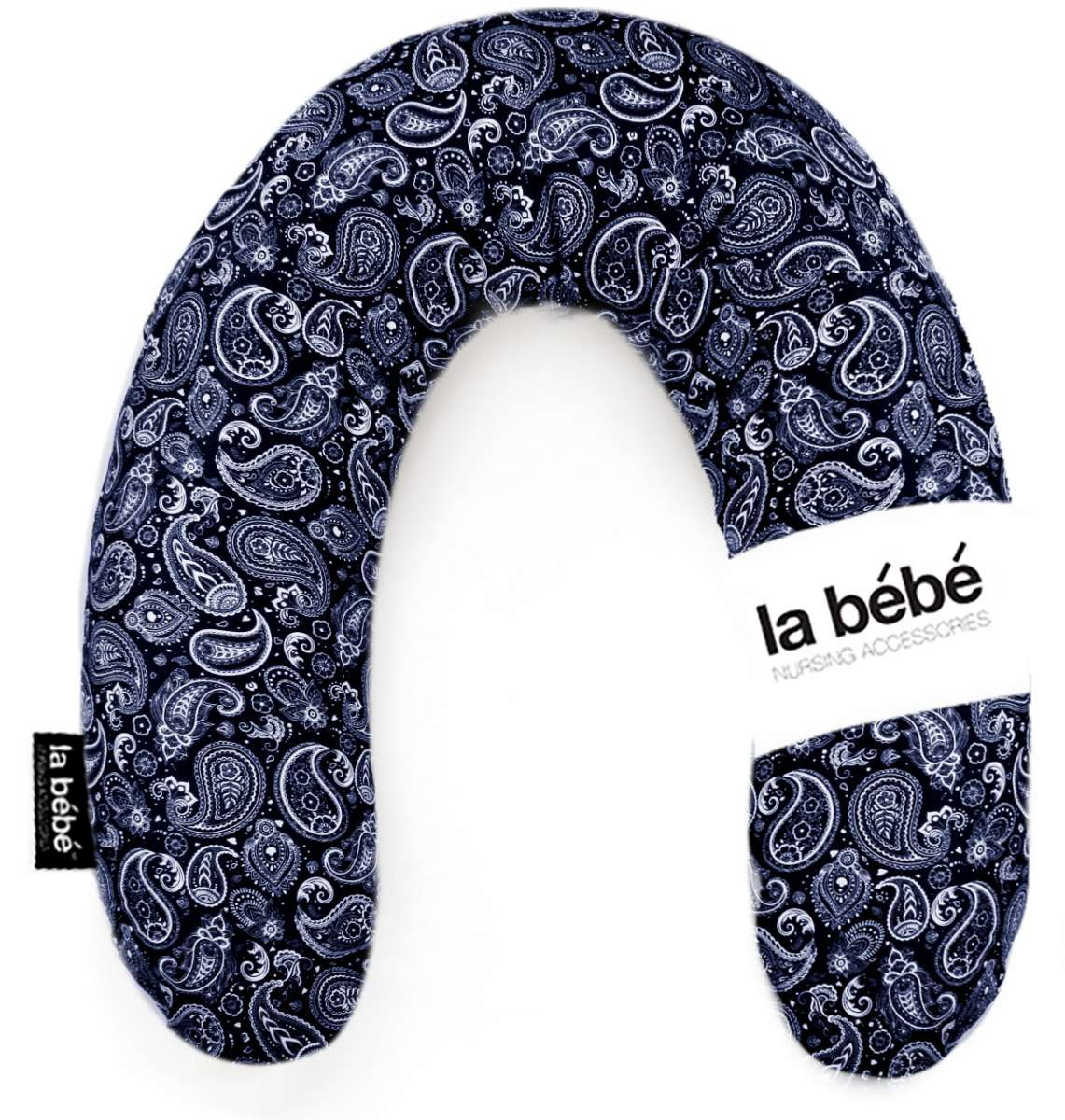 La Bebe Rich Cotton Nursing Maternity Pillow Eastern Mod Dark Blue Pakaviņš pakavs mazuļa barošanai, gulēšanai