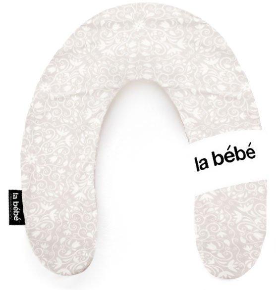 La Bebe Rich Cotton Nursing Maternity Pillow Floral Gray-White pakaviņš mazuļa barošanai, gulēšanai
