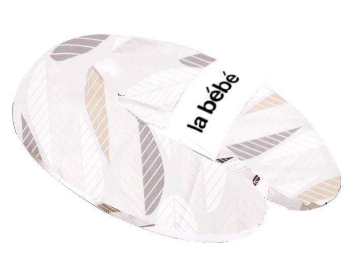 La Bebe Rich Cotton Nursing Maternity Pillow Grey-Grey Foliage Pakaviņš pakavs mazuļa barošanai, gulēšanai