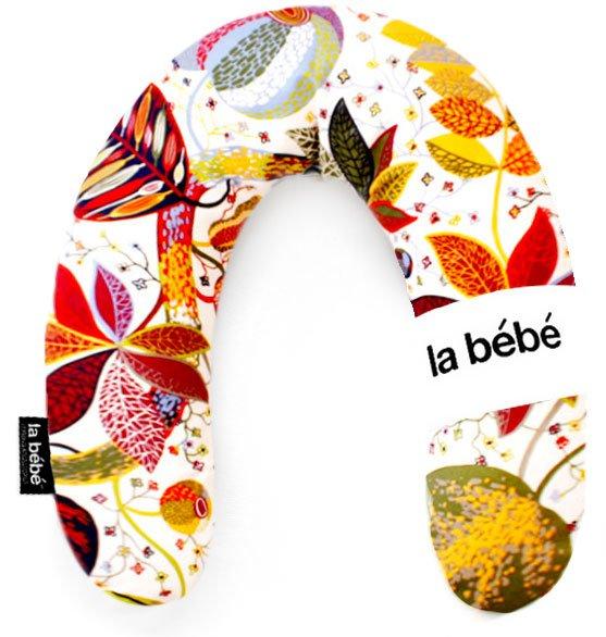 La Bebe Rich Cotton Nursing Maternity Pillow Red leaf fall Pakaviņš pakavs mazuļa barošanai, gulēšanai