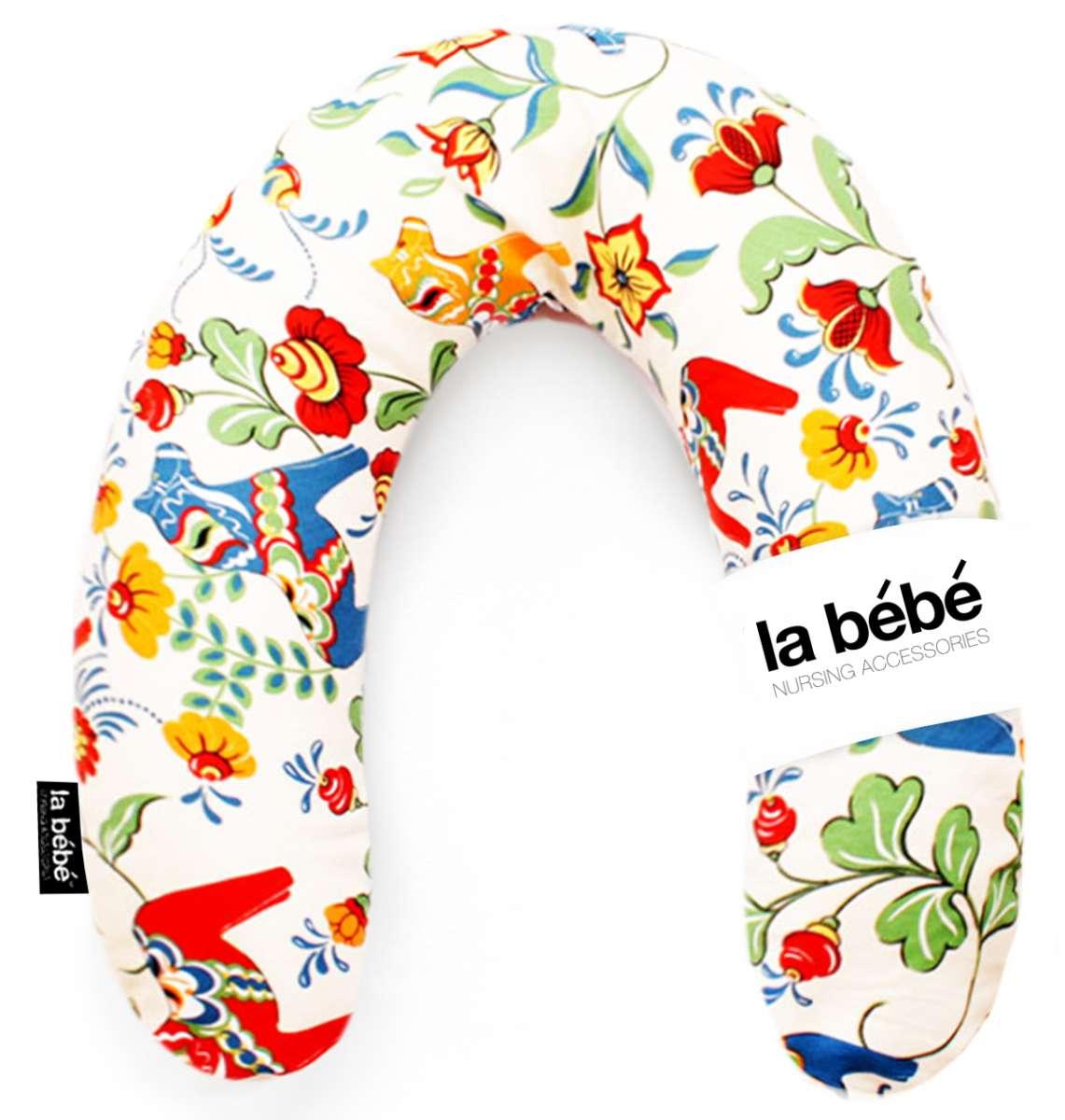 La Bebe Rich Cotton Nursing Maternity Pillow Swedish Color Dala Horse Pakaviņš pakavs mazuļa barošanai, gulēšanai