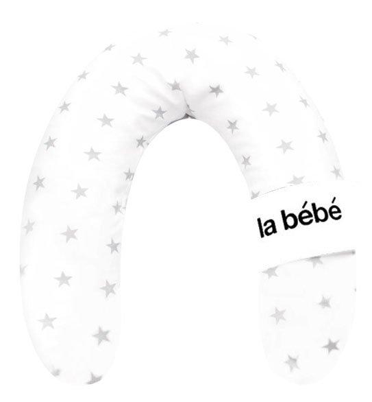 La Bebe Rich Cotton Nursing Maternity Pillow White&Grey Stars Pakaviņš pakavs mazuļa barošanai, gulēšanai
