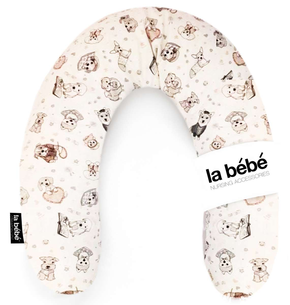 La Bebe Rich Dogs Cotton Nursing Maternity Pillow Pakavs mazuļa barošanai, gulēšanai 30x175 cm