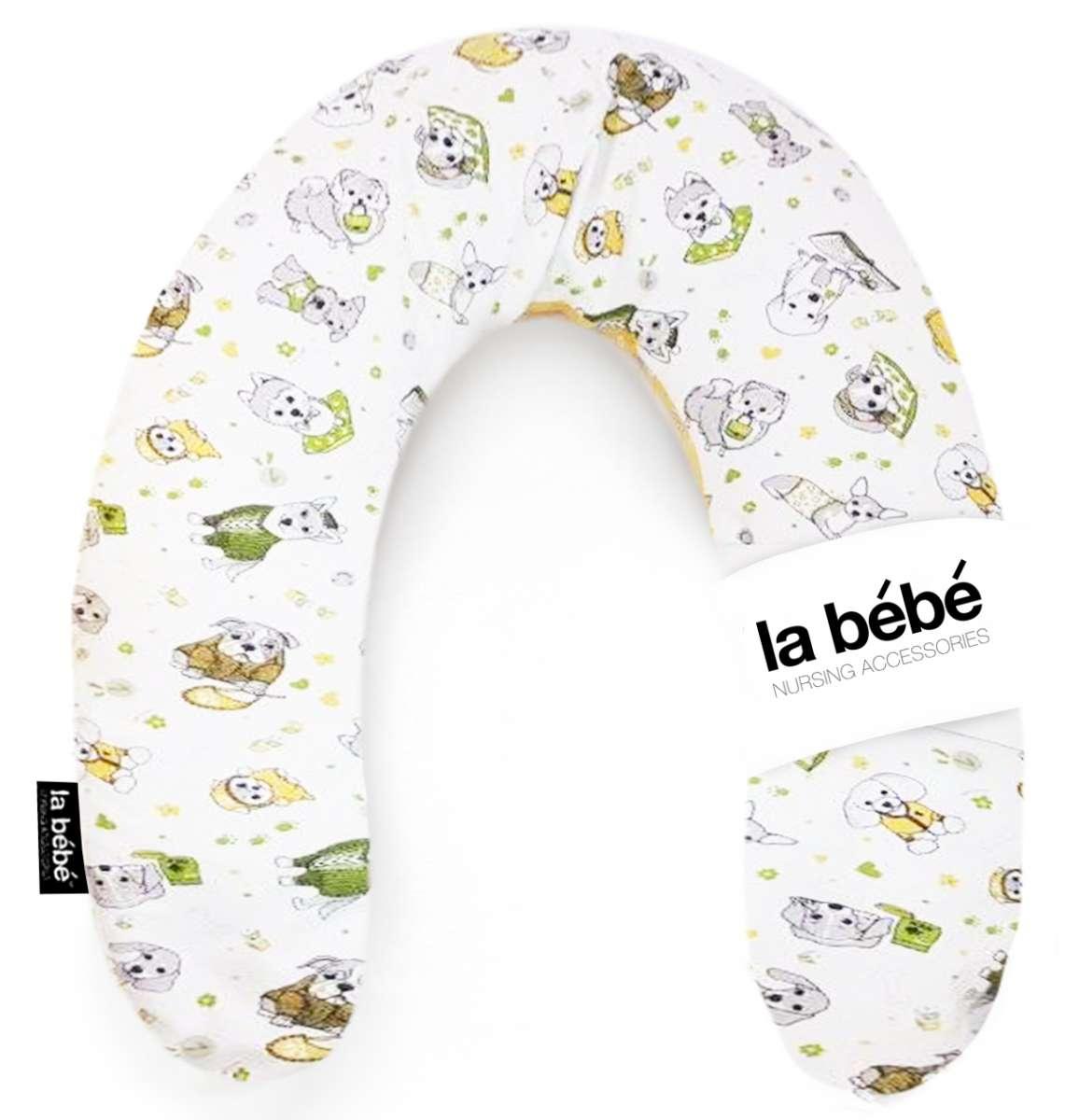 La Bebe Snug Cotton Nursing Maternity Pillow Funny Dogs Pakaviņš mazuļa barošanai, gulēšanai
