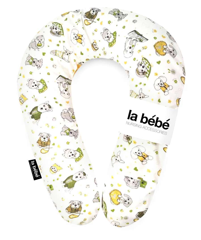 La Bebe Snug Cotton Nursing Maternity Pillow Funny Dogs Pakaviņš pakavs mazuļa barošanai, gulēšanai