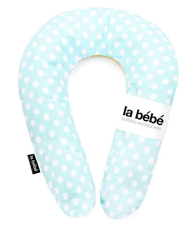 La Bebe Snug Nursing Maternity Pillow Mint Dots Pakaviņš mazuļa barošanai, gulēšanai 20x70