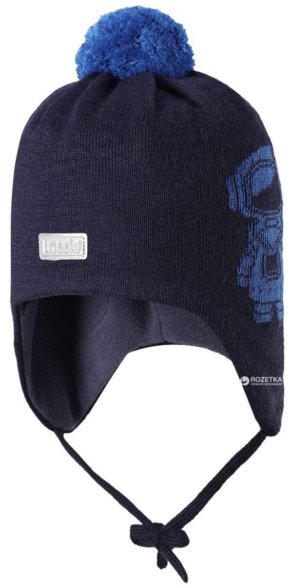 Lassie Dark Blue Bērnu vilnas cepure puikām