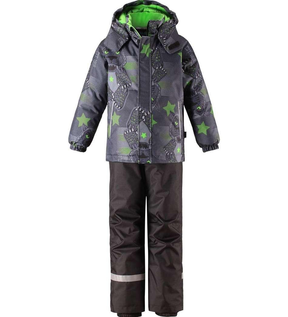 Lassie Lassietec Bright Green Silts mazuļu ziemas kostīms: jaka un bikses