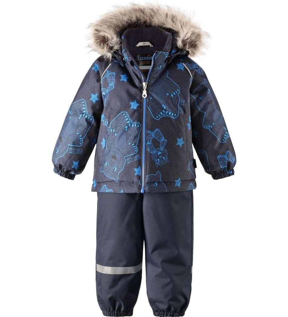 Lassie Lassietec Dark Blue Silts mazuļu ziemas kostīms: jaka un bikses