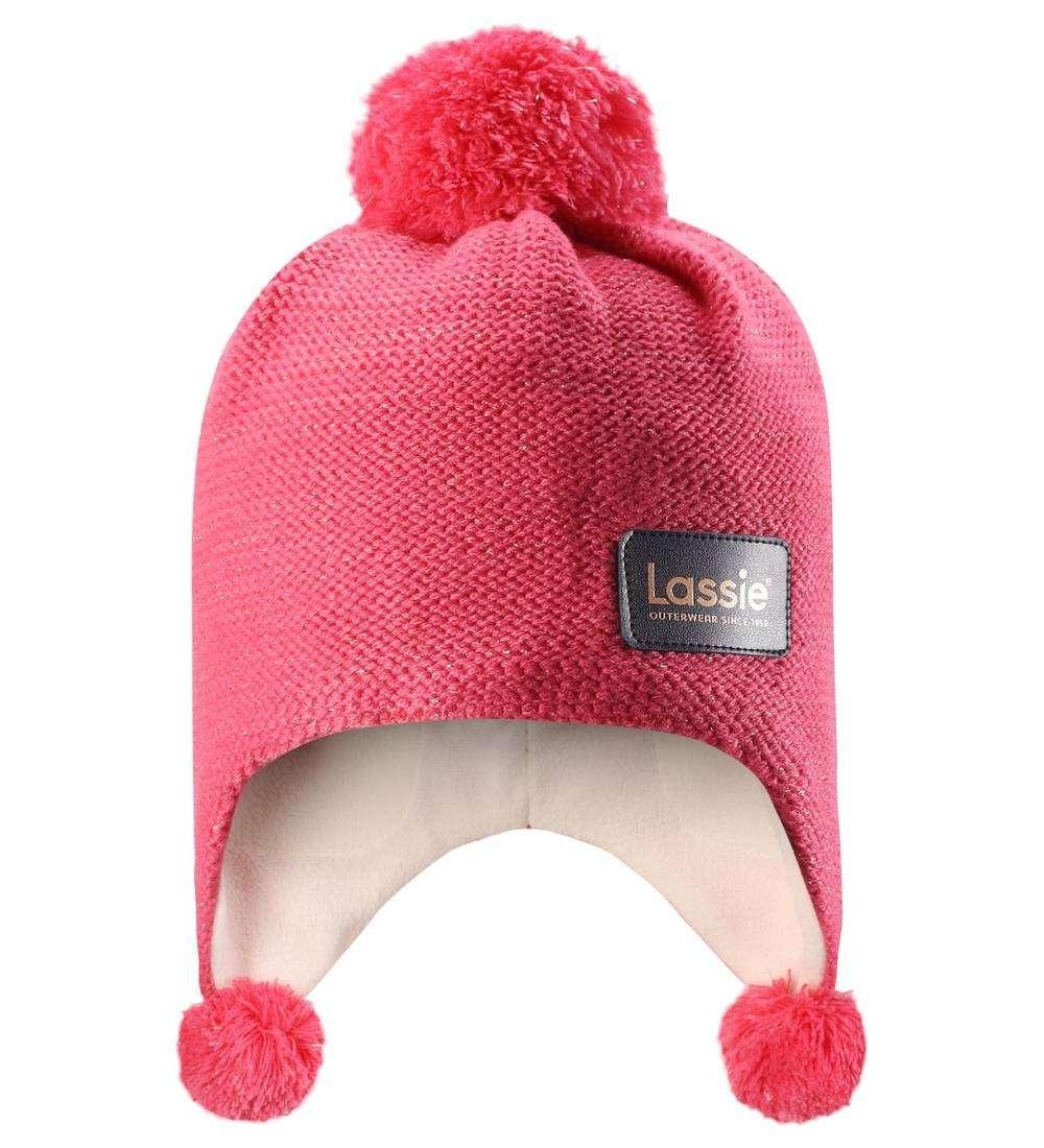 Lassie Neon Coral Bērnu vilnas cepure meitenēm
