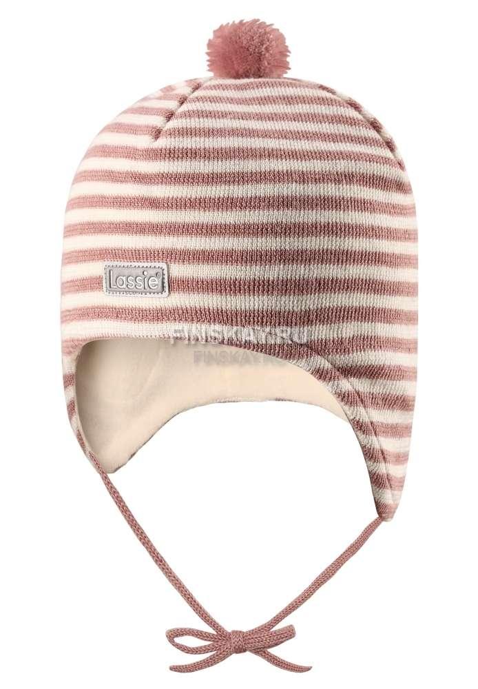 Lassie Powder Pink Bērnu vilnas cepure meitenēm