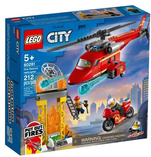 LEGO CITY 60281 Ugunsdzēsēju Glābšanas Helikopters