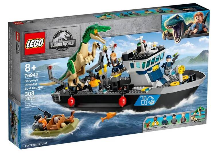 LEGO JURASSIC WORLD 76942 Barioniksa Izlaušanās no Kuģa