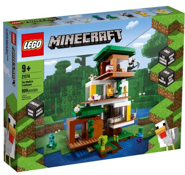 LEGO MINECRAFT 21174 Mūsdienīgā Māja Kokā