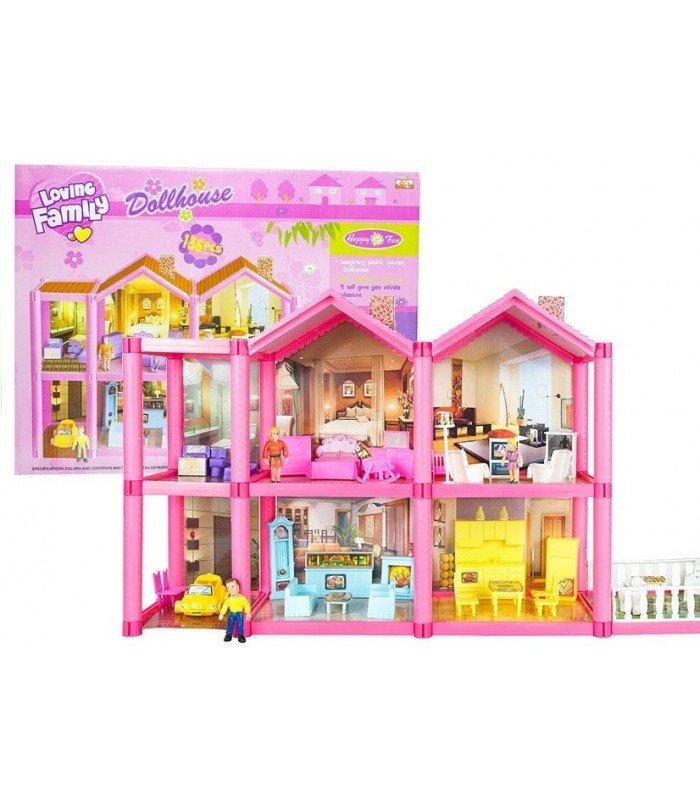 Leļļu māja ar mēbelēm Loving family