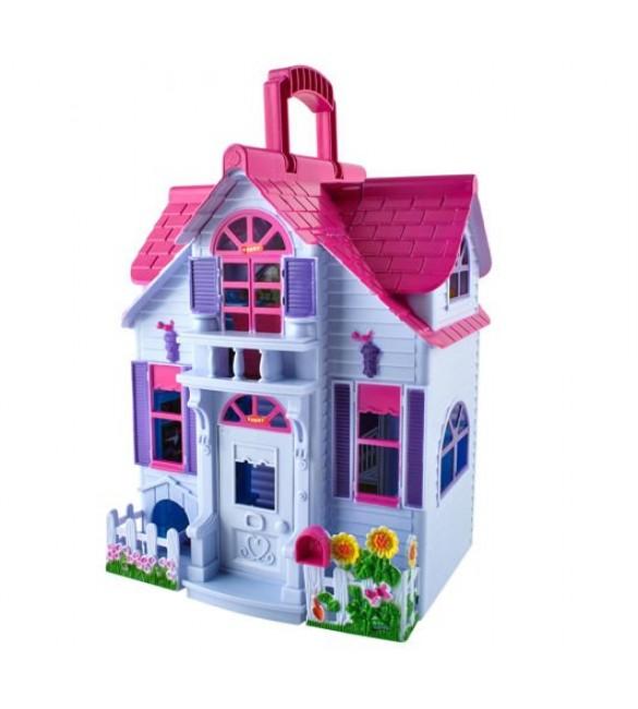 Leļļu māja-čemodaniņš ar aksesuāriem D6079