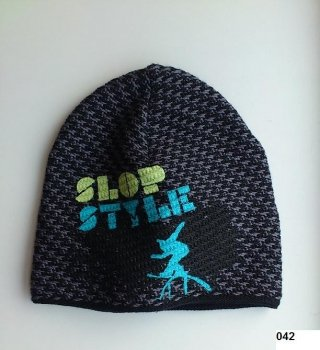 LENNE '14 - Adīta cepurīte zēniem Slop art.13394 krāsa 042