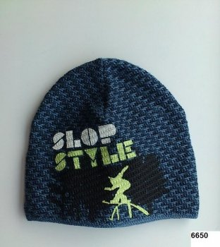 LENNE '14 - Adīta cepurīte zēniem Slop art.13394 krāsa 6650