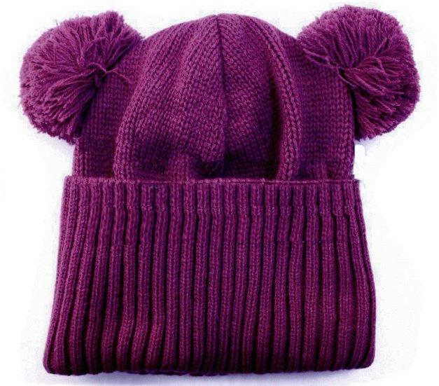 LENNE '14 - Adīta ziemas cepurīte meitenēm Rita art.13391 krāsa 619