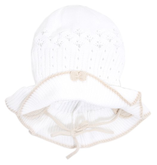 Lenne'14 Paula Art.14241-001 Knitted cap Mazuļu adīta kovilnas cepure sasienamā