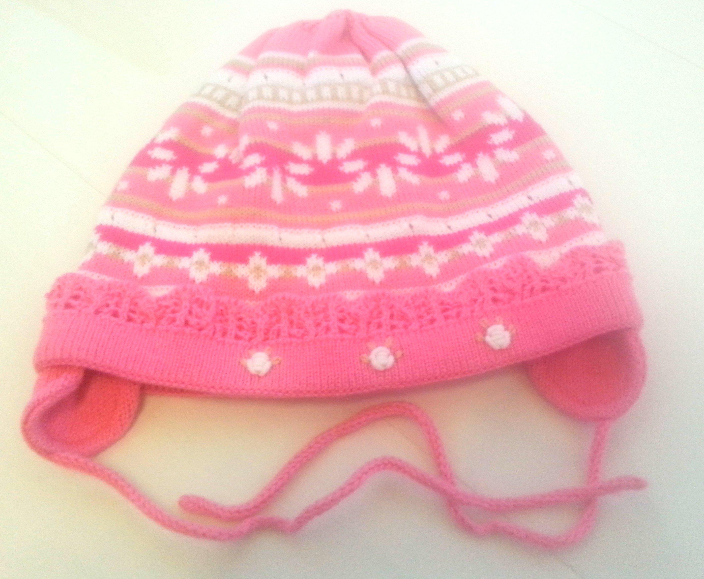 Lenne'15 - Dalia 15242-127 Knitted cap Mazuļu adīta kovilnas cepure sasienamā