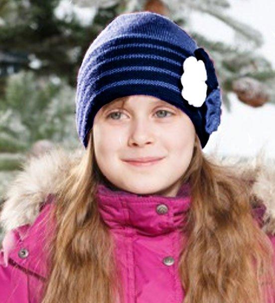 Lenne'15 Knitted Hat Rosita Art.14393/6300 Bērnu siltā pusvilnas cepure