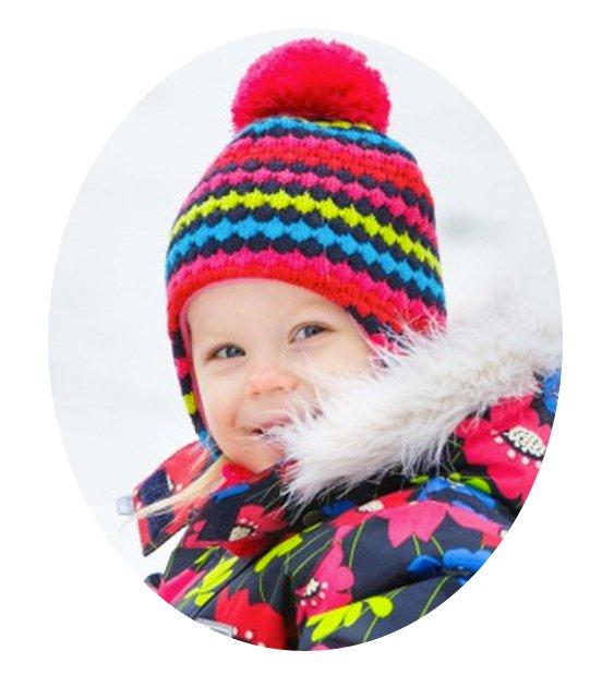 LENNE'15 Paula 14384-187 Knitted cap Mazuļu adīta pusvilnas cepure sasienamā