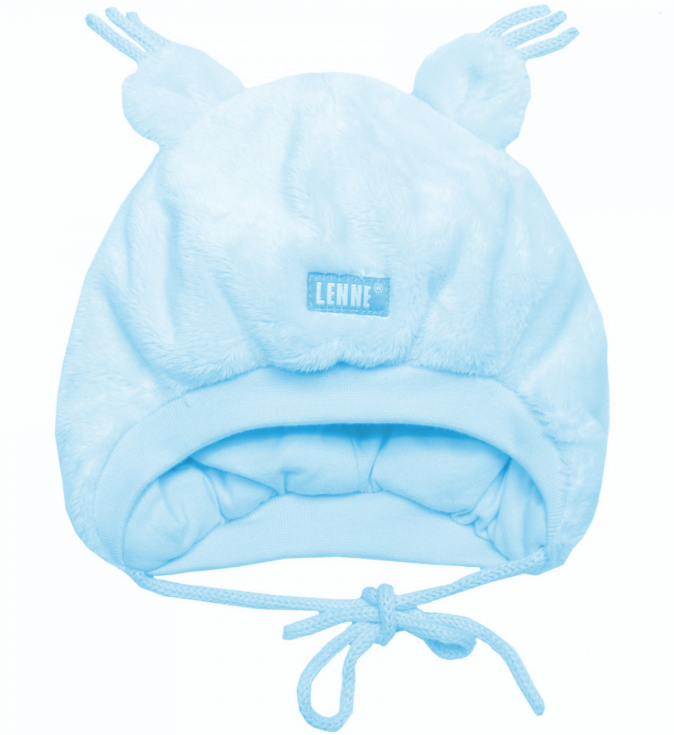 Lenne Berna Knitted hat  blue Bērnu silta plīša cepure